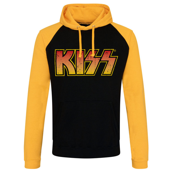 hoodie men's Kiss - Distressed Logotype - HYBRIS