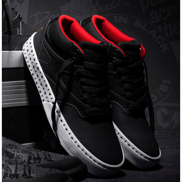 Shoes DC - AC / DC - HIGH VOLTAGE - BLACK / WHITE / RED