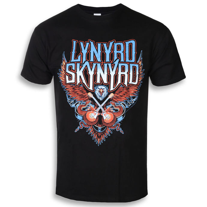 t-shirt metal men's Lynyrd Skynyrd - Crossed Guitars - PLASTIC HEAD