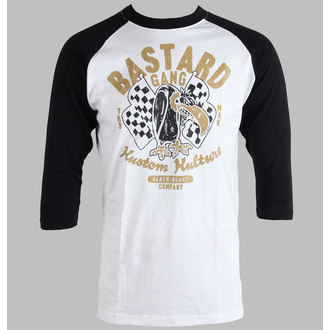 t-shirt men BLACK HEART - Baseball - Bastard - Black