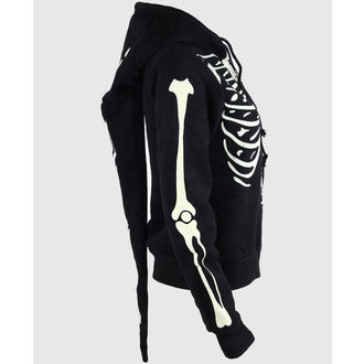 hoodie women's - Glow In The Dark Skeleton - BANNED - HBN017
