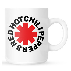 Mug Red Hot Chili Peppers - Original Logo Astrisk - White, NNM, Red Hot Chili Peppers