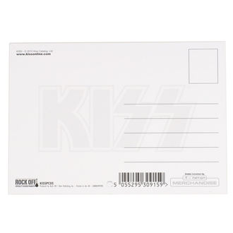 Postcard KISS - ARMY LOGO - ROCK OFF, ROCK OFF, Kiss