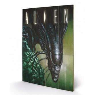 Wooden painting Alien - (Creep) - PYRAMID POSTERS, PYRAMID POSTERS, Alien