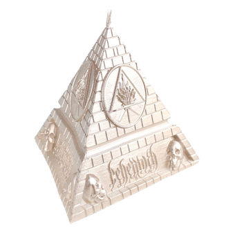 Candle BEHEMOTH - UNHOLY TRINITY PYRAMID - BRASS - PLASTIC HEAD, PLASTIC HEAD, Behemoth