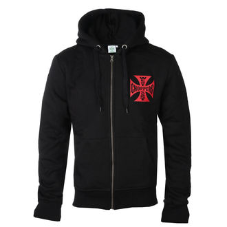 hoodie men's - RED OG CROSS - West Coast Choppers, West Coast Choppers