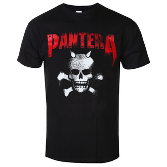 t-shirt metal men's Pantera - Horned Skull Stencil - ROCK OFF, ROCK OFF, Pantera