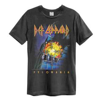 t-shirt metal men's Def Leppard - PYROMANIA - AMPLIFIED, AMPLIFIED, Def Leppard