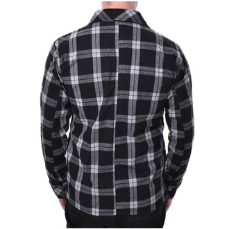Men's shirt Chemical black - EZRA - WHITE CHECK, CHEMICAL BLACK
