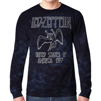 t-shirt metal men's Led Zeppelin - USA TOUR '77 - LIQUID BLUE, LIQUID BLUE, Led Zeppelin