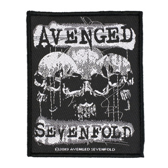 Patch Avenged Sevenfold - 3 Skulls - RAZAMATAZ, RAZAMATAZ, Avenged Sevenfold