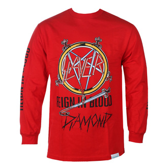 t-shirt men with long sleeve SLAYER - DIAMOND - Reign In Blood - Red - RED_B20DMPC305S