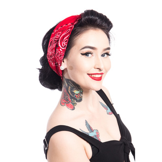 Headscarf (headband) ROCKABELLA - BAND TWO BANDANA - RED, ROCKABELLA
