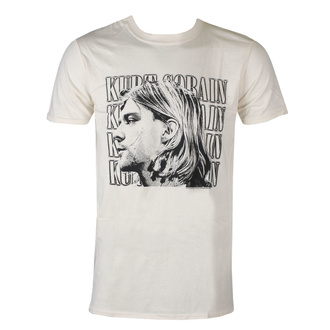 Men's t-shirt Kurt Cobain - Contrast Profile - ROCK OFF, ROCK OFF, Nirvana