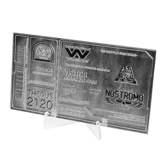 Decoration Alien - Replica Nostromo Ticket Limited Edition (silver plated), NNM, Alien