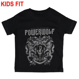 kids' t-shirt Powerwolf - Crest - Metal-Kids, Metal-Kids, Powerwolf