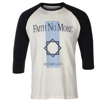 Men's t-shirt with 3/4 sleeves FAITH NO MORE - WE CARE A LOT - ECRU / BLACK RAGLAN - GOT TO HAVE IT - FB3/5451
