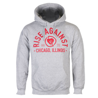 Men's hoodie Rise Against - Classic Arch - Heather Gray - KINGS ROAD, KINGS ROAD, Rise Against