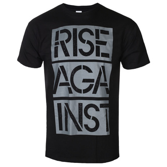 Men's t-shirt Rise Against - Stacked Ghost Notes Stencil - Black - KINGS ROAD, KINGS ROAD, Rise Against