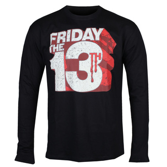 Men's t-shirt with long sleeves Friday The 13th - Block Logo - Black - HYBRIS, HYBRIS, Friday the 13th