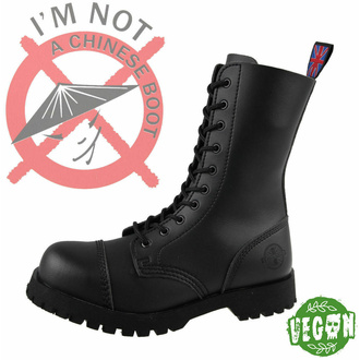 boots NEVERMIND - 10 eyelets - Vegan - Black Synthetic - 10110S - DAMAGED - BH117