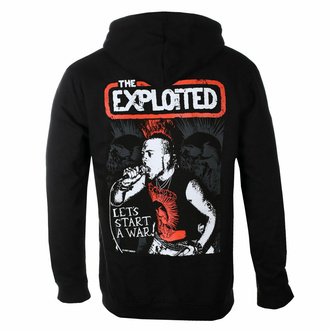 Men's hoodie THE EXPLOITED - LET'S START A WAR - PLASTIC HEAD - PH11977HSW