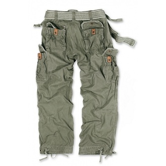 pants men SURPLUS - PREMIUM VINTAGE TR. - OLIV