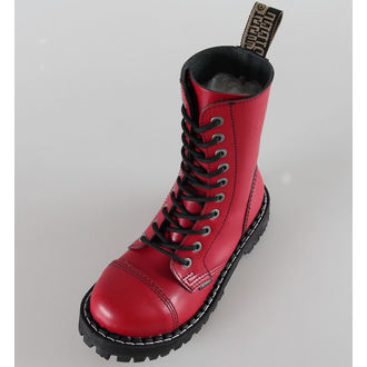 boots STEEL - 10 eyelet red colorful (105/106 Full Red)