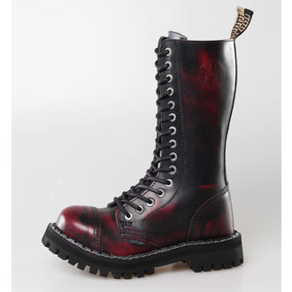 boots STEEL - 15 eyelet Wine (135/136 Red black-burgundy )