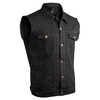 Men's vest CAPRICORN ROCKWEAR - black with frayed arms, CAPRICORN ROCKWEAR