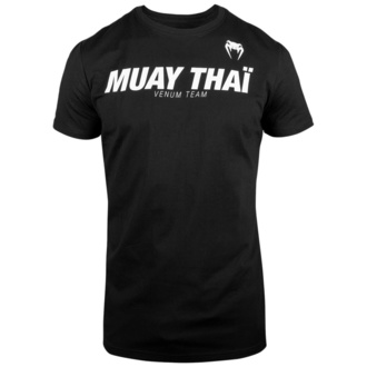 Men's t-shirt Venum - Muay Thai VT - Black / White - VENUM-03733-108