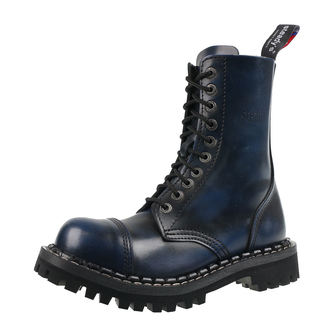 leather boots unisex - STEADY´S - STE/10_blue/black