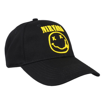 Cap Nirvana - Logo & Smiley - ROCK OFF, ROCK OFF, Nirvana
