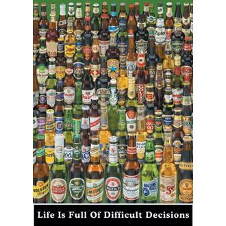 poster Life Is Full Of Difficult Decisions (Beer Bottles) - PP0273 - Pyramid Posters