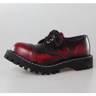 boots STEEL - 3 eyelet wine (101/102 Red Black-Burgund)