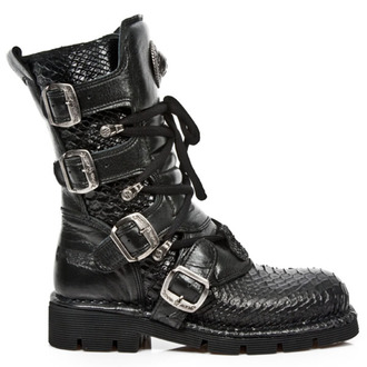 leather boots women's - PITON ROCK PLANING NEGRO SIN - NEW ROCK - M.1473-S32