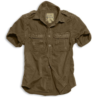 shirt SURPLUS - 1/2 Vintage Shirt - BROWN - 06-3590-05