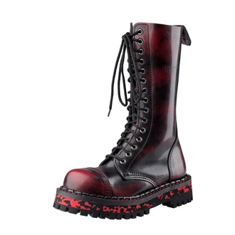 boots STEADY´S - 15 eyelet - Red / Black, STEADY´S