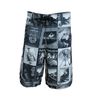 swimsuits men (shorts) INDEPENDENT - Verts - WHITE