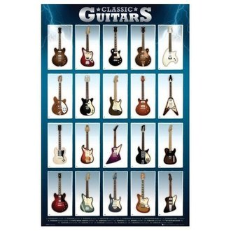 poster Classic Guitars - GB posters - GN0500