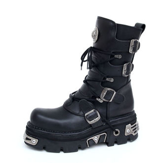 boots leather - Basic Boots (373-S4) Black - NEW ROCK