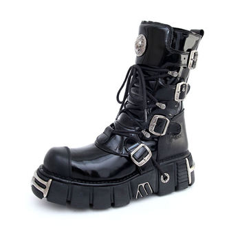 boots leather - Bizarre Boots (313-S1) Black - NEW ROCK - M.313-S1