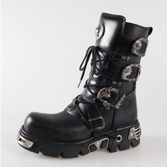 boots leather - Metal Boots (391-S1) Black - NEW ROCK - M.391-S1