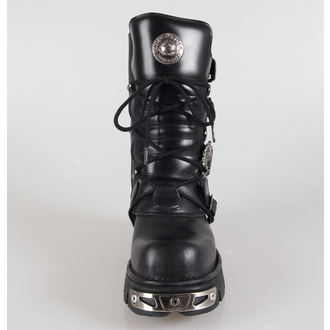 boots leather - Metal Boots (391-S1) Black - NEW ROCK