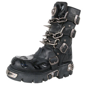 boots leather - Chain Boots (727-S1) Black - NEW ROCK - M.727-S1