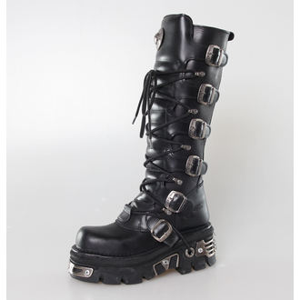boots leather - 6-Buckle Boots (272-S1) Black - NEW ROCK - M.272-S1