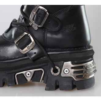 boots leather - 6-Buckle Boots (272-S1) Black - NEW ROCK