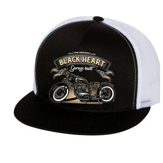 cap BLACK HEART - WHITE, BLACK HEART