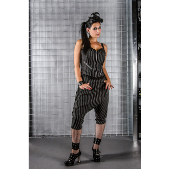 corset women's HELL BUNNY - Emmy top pinstripe - Black/White - 6249