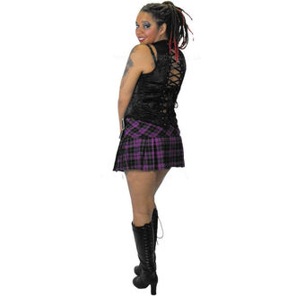 skirt women's HELL BUNNY - Purple Chelsy Mini Skirt - 5051
